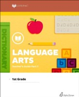 Lifepac Language Arts, Grade 1, Teacher's Guide Part 1