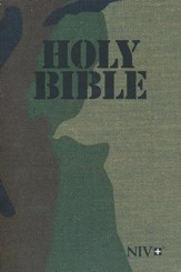 NIV Holy Bible, Military Edition--softcover, woods print camo