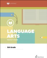 Lifepac Language Arts, Grade 5, Teacher's Guide