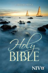 NIV Holy Bible, Larger Print,  Paperback