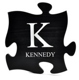 Personalized, Puzzle Piece Plaque, Family, Black