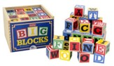 ABC Wood Blocks, Large, Set of 48