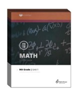 Lifepac Math, Grade 9 (Algebra I),  Workbook Set
