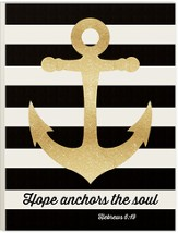 Hope Anchors The Soul (Hebrews 6:19), Picture With Glitter, 12 Wx16 H