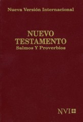 NVI Spanish Shirt Pocket New Testament, Psalms & Proverbs, Burgundy, Mass Market - Slightly Imperfect