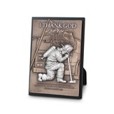 Fireman, Small Sculpted Plaque