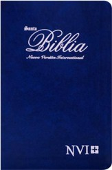 Biblia Ultrafina NVI, Piel Imitada Azul  (NVI Slimline Bible, Imitation Leather, Blue)