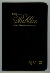 Biblia Ultrafina NVI, Piel Imitada Black (NVI Slimline Bible, Imitation Leather, Black)