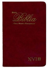 Biblia Ultrafina NVI, Piel Imitada Vino  (NVI Slimline Bible, Imitation Leather, Burgundy) - Imperfectly Imprinted Bibles