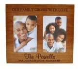 Personalized, Double Photo Frame, Family, Cherry