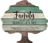 Our Family Is Like the Branches Of A Tree, Shaped Pallet Art