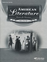 Abeka American Literature: Classics for Christians Quizzes/  Tests Key, Fourth Edition