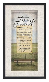 True Friend Plaque