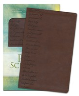 GWT Pray the Scriptures Bible, Duravella, brown