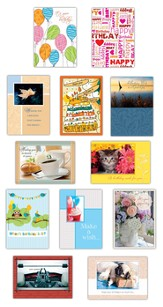 Assorted Birthday Cards, Value Box of 24