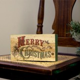 Merry Christmas Lath Box Decor