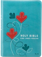 KJV Pocket Bible, Lux Leather, Turquoise