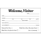 Welcome, Visitor Pew Cards, 50
