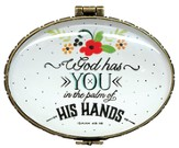 God Has You In The Palm Of His Hands, Keepsake Jewelry Box