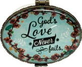 God's Love Never Fails, Keepsake Jewelry Box