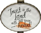 Trust In The Lord With All Your Heart, Keepsake Jewelry Box