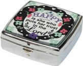 Happy Is She Who Puts Her Trust In The Lord Mint/Pill Box