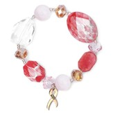 Hope Rocks Bracelet, Gold and Crystal Beads