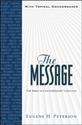 The Message, Numbered Edition, Personal Size, with Topical Concordance