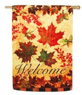 Fall Leaves Suede Reflections Flag, Large