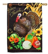 Harvest Greetings Flag, Large