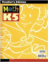 BJU Math K5 Teacher's Edition (3rd Edition)