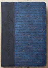Serenity Prayer Journal, LuxLeather, Blue