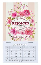 2017 My Heart Rejoices Mini Magnetic Calendar