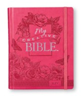 KJV My Creative Bible, Pink Floral LuxLeather