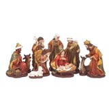 Nativity Set, Traditional, 11 Pieces, 8.75 Inches