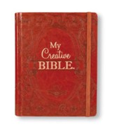 KJV My Creative Bible, Brown Ornate LuxLeather