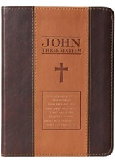 John 3:16 Journal, LuxLeather, Two-Tone, Brown