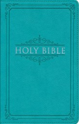KJV Thinline Gift & Award Lux-Leather Turquoise