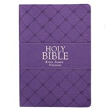 KJV Super-Giant Print Bible--lux leather, purple