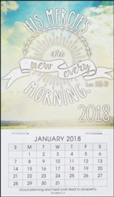 2018 His Mercies Are New, Mini Magnetic Calendar