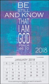 2018 Be Still and Know That I Am God, Mini Magnetic Calendar