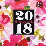2018 All Things Lovely, Wall Calendar, Large