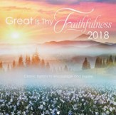 2018 Great Is Thy Faithfulness, Wall Calendar, Large