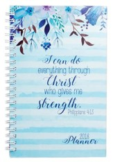 2018 I Can Do All This Through Him, Wirebound Daily Planner
