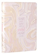 2018 Start Each Day With A Grateful Heart, Lux Leather Monthly Planner