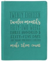 2018 Twenty Eighteen, Make Them Count, Lux Leather, Zipper, Planner
