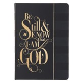 Be Still and Know That I Am God Journal, Hardcover, Lux Leather