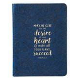 May He Give You the Desire Of Your Heart Journal, Lux Leather