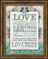 Love Is Patient Framed Art