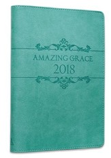 2018 Amazing Grace, Lux Leather Executive Planner, Blue